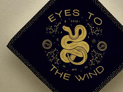 Eyes to the Wind motorcycle road trip washington california drawing snake mockup type illustration bandana