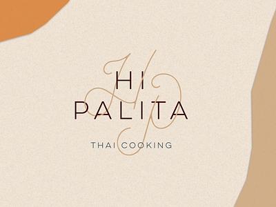 Logo Cemetery - HI PALITA typography vector adobeillustator illustration design hp monolinetype monoline handtype type chef thailand cook brand branding cooking cemetery logo