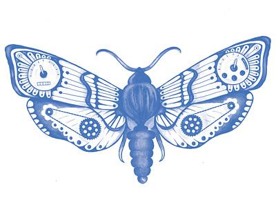 Moto Moth wacompro wacom brushes photoshop adobeillustator illustrator illustration design moths motorbike motorcycle moth