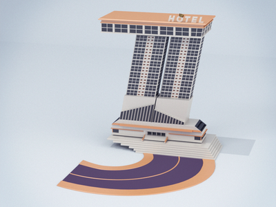 36 Days of Type - Number 3 lettering illustration design c4dtoa cinema4d c4d building architecture 3d 36daysoftype 3