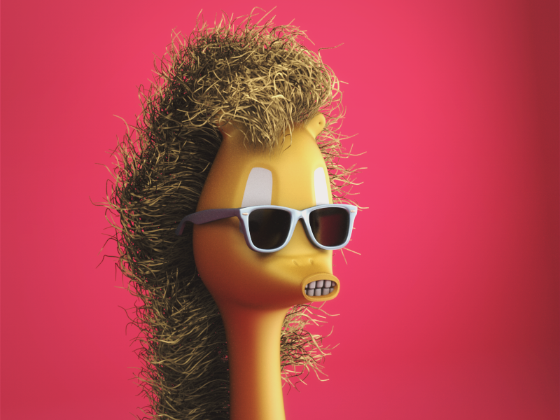 Cool Phil w/ Shades   render 3d shades cool pink spring cinema 4d c4dtoa c4d design character