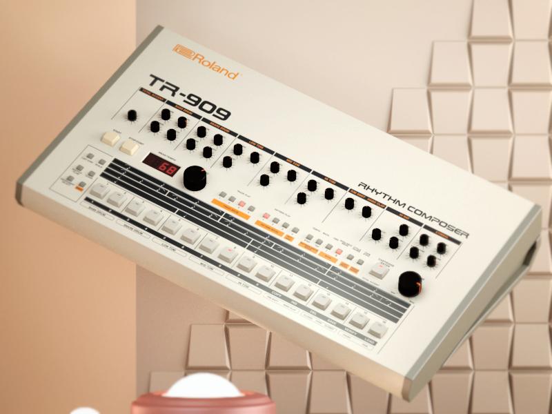 dribbble  roland tr 909