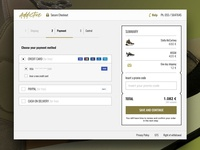 Sneakers shop checkout page