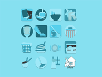 Iconography for ChoreHub Application Concept