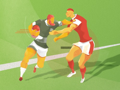 Rugby illustration grass characters humans men sports design field rugby sports