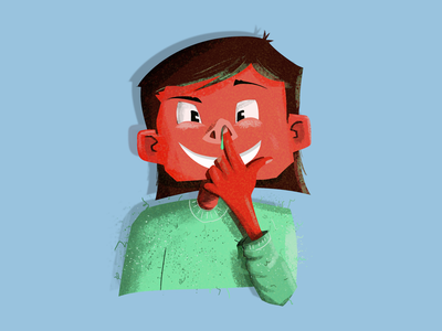 Quick sketch to start the day with happy girl doodle quick sketch nose child digital art graphic  design character illustration
