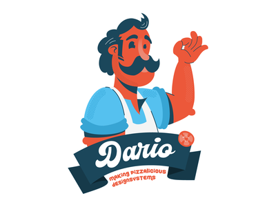 Dario, mascotte for a designsystem ui designsystem pizza italian dario design logo vector graphic  design character illustration