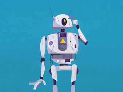 Beep beep human machinery future futur wireless bluetooth wifi robot machine digital painting vector digital art graphic  design character illustration