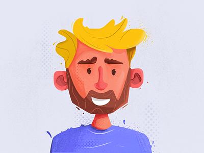 New avatar! branding digital art design logo avatar portret digital painting vector graphic  design character illustration