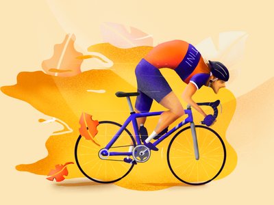 The sprint is on. sprinter sprint digital painting character procreate illustration cycling
