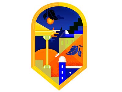 Abstract landscape digital art illustration art badge landscape graphic design graphic abstract illustration