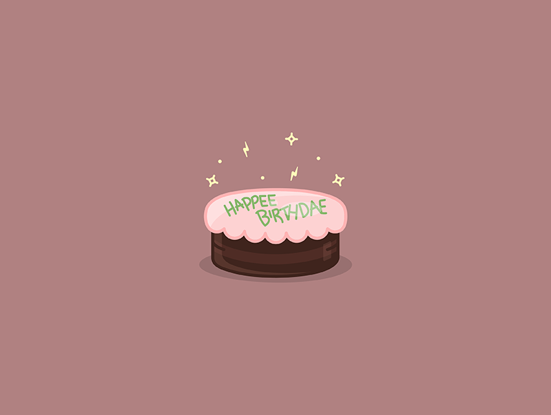 Happy Birthday Harry Potter Lightning Bolt Hagrid Dessert Illustration Icon