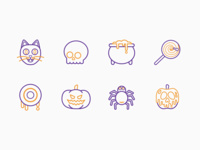 Halloween Line Icons Set 1