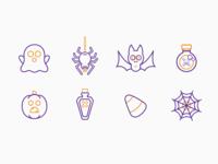 Halloween Line Icons Set 2