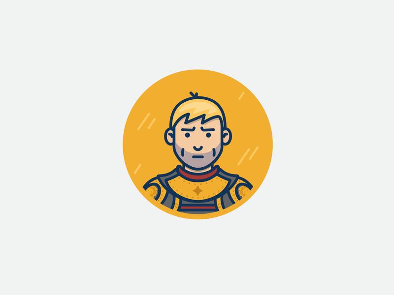 Jaime Lannister lannister man character design vector illustration icons jaime lannister got game of thrones