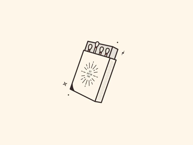 Matchbox container box matchstick striker fall vector match fire matchbox matches camping autumn design icon illustration