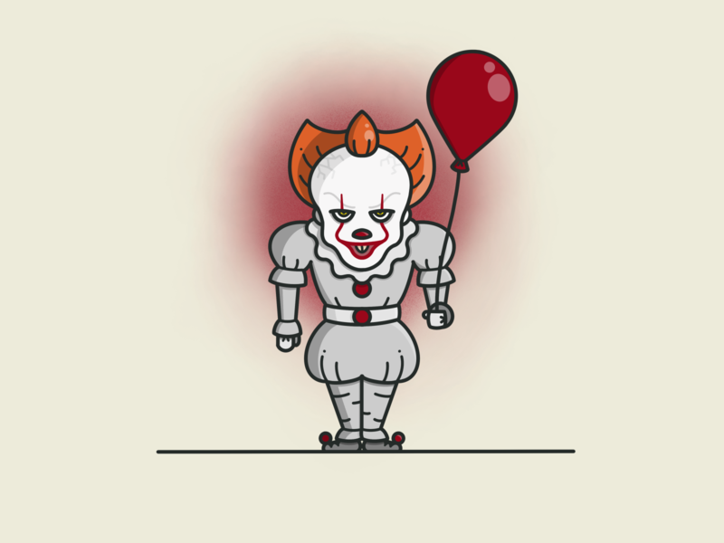 Pennywise 🤡🎈 creature halloween design balloon creepy spooky design procreate art terror scary halloween monster clown it pennywise procreate illustration