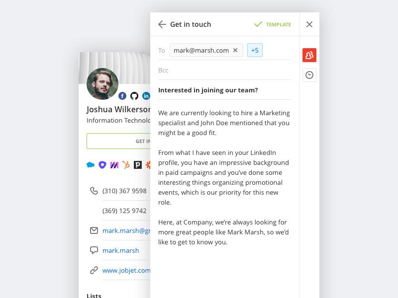 Jobjet Recruiter Pro Chrome Extension by Zmicier Aqua on