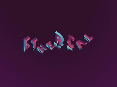 Ethereal Logo clean flat typography design illustrator logo identity icon vector illustration