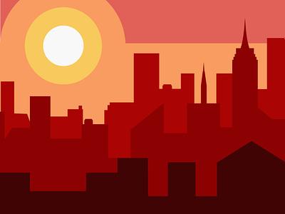 Day Cityscape design identity clean branding summer cityscape flat minimal illustrator vector illustration