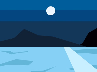 00 night 1 colours minimal web branding clean illustrator design flat illustration vector