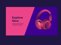A first rebound - Headphones surreal logo web illustration identity branding minimal illustrator design clean vector