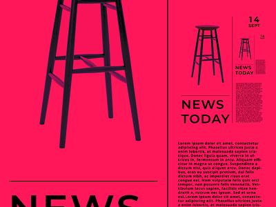 News Today identity minimal illustrator flat clean vector illustration ux branding logo