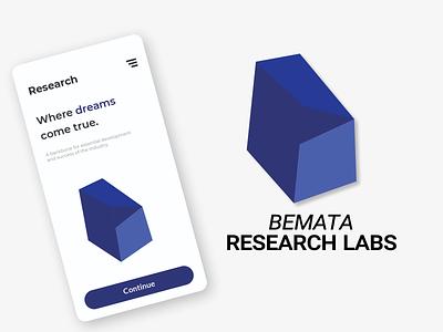 Bemata Research Labs icon web identity branding minimal illustrator flat design clean vector illustration
