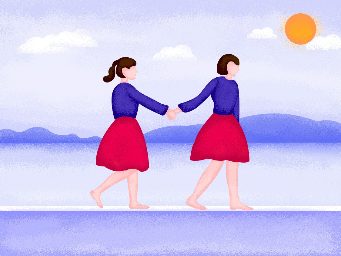 Once The Best Friend web app ui illustration design