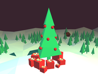 Christmas christmas 3d low poly holidays new year threejs