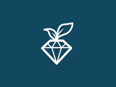 Food logo food logo diamond leaf