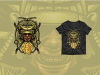 Samurai Helmet Illustration