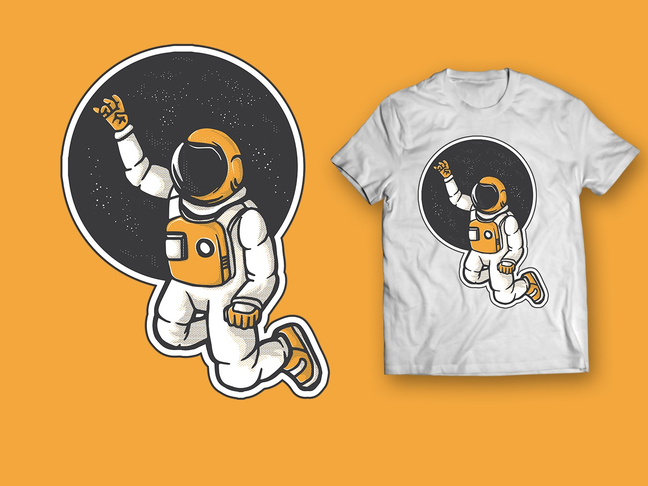 Astronaut Left Behind icon logo design illustration graphic design vector forgotten rocket rocket ship stars universe galaxy space astronaut customized shirts shirt men tshirt t shirt design t shirt
