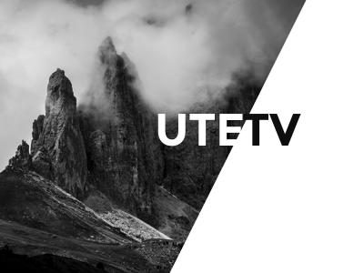 Utetv visual identity graphic profile outdoor