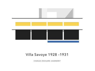 Villa Savoy illustration visual identity graphic profile