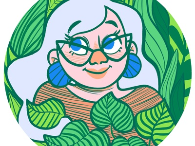 2021 Self Portrait 1960s digital art hand drawn coloring book cartoon art design character design illustration cute portrait illustration cartoon portrait