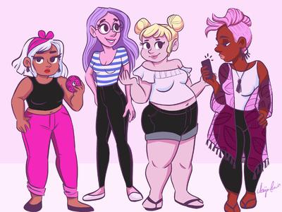 Summer Fashion Girls - Character Design