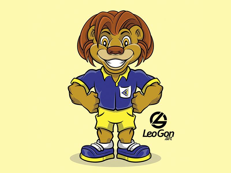 Cecap Mascote lion logo game branding ilustração illustration characterdesign vector design character mascote logotype logotipo brand