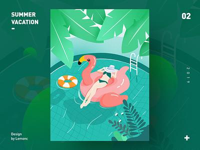 summer vacation illustration  summer vacation