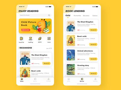 Children's Education Reading App 01 ui ux education child