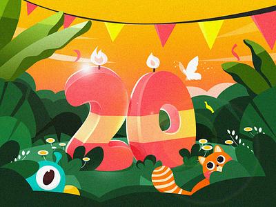 Celebration team 20k illustration  celebrate