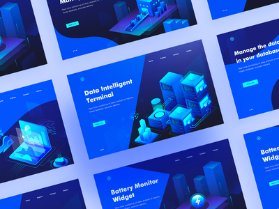 Data illustration web page collection