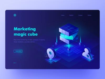 Marketing magic cube Web Page