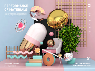 Material performance exercise c4d  material performance  color