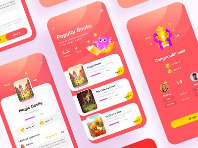 Reading Game App game children read design visual ux ui
