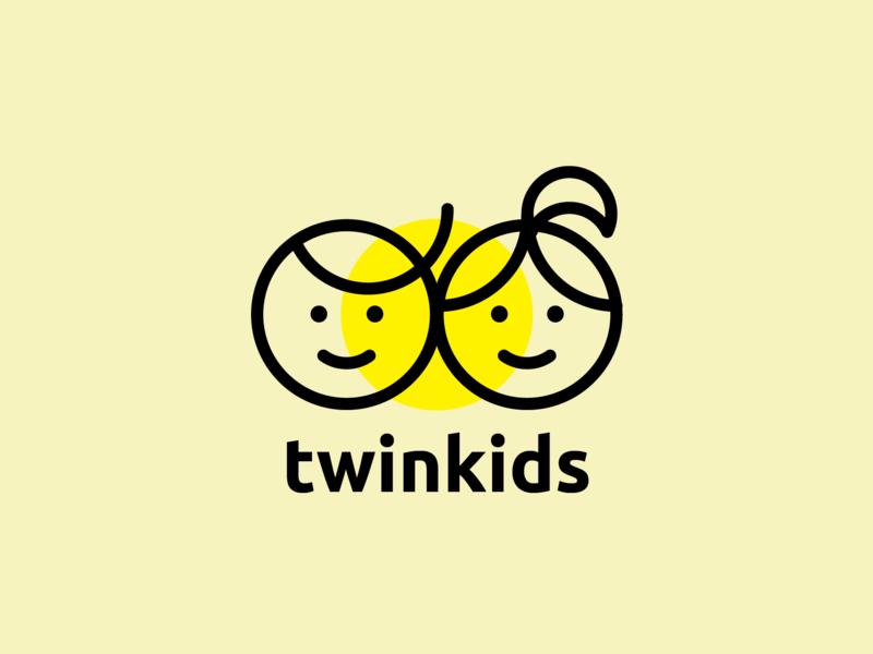 Twinkids Logo Design logodesign branding illustration logo design