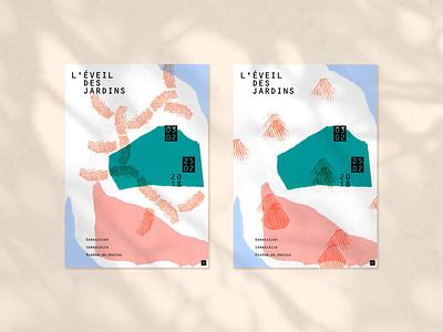 L'éveil des Jardins logo typography branding illustration design
