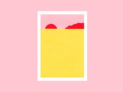Landscape paint minimalism minimalist color landscape illustration landscape painting design illustration