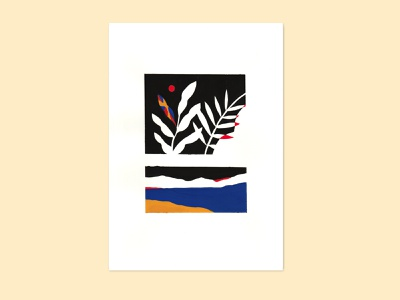 landscape#2 vegetal plant leaves painting paint landscape design illustration