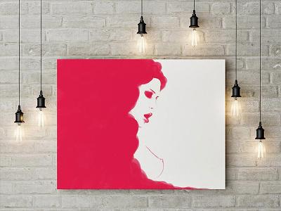 Artwork - Red (Emotion) portrait digital art photoshop art